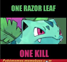 ivysaur level twenty Memes one shot one kill razor leaf - 5842332928