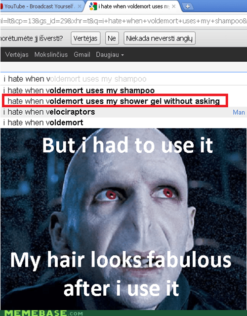 hair,Harry Potter,horcrux,Memes,shower gel,voldemort