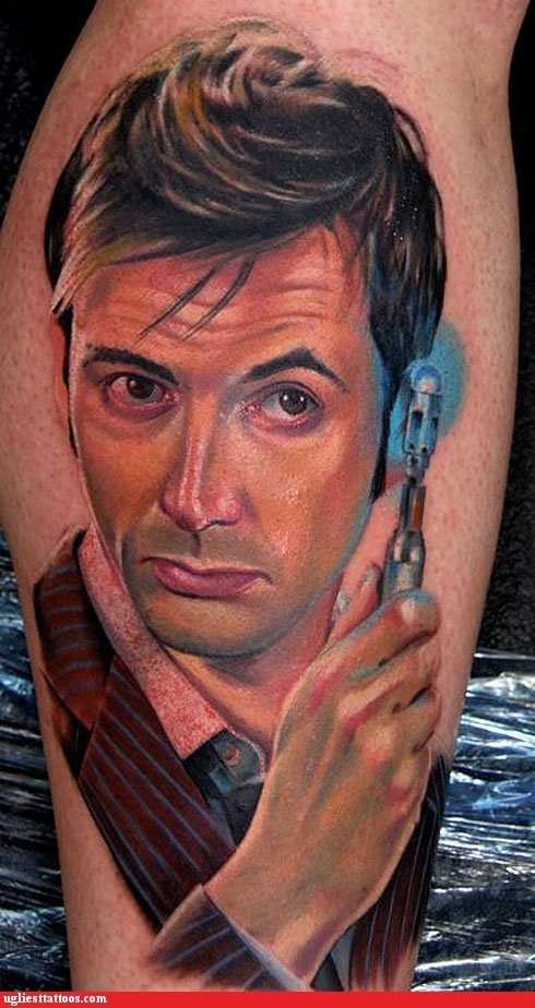 David Tenant doctor who Hall of Fame trust-me-im-the-doctor Whovian tattoo