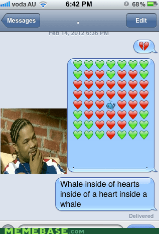 hearts,iphone,whale,yo dawg