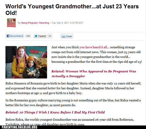 how is this even possible what the what youngest grandmother