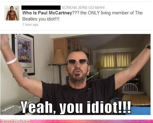 celeb funny Music paul mccartney ringo starr the Beatles twitter - 5843968768