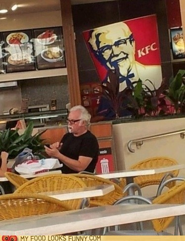 Colonel,kfc,patron,sign