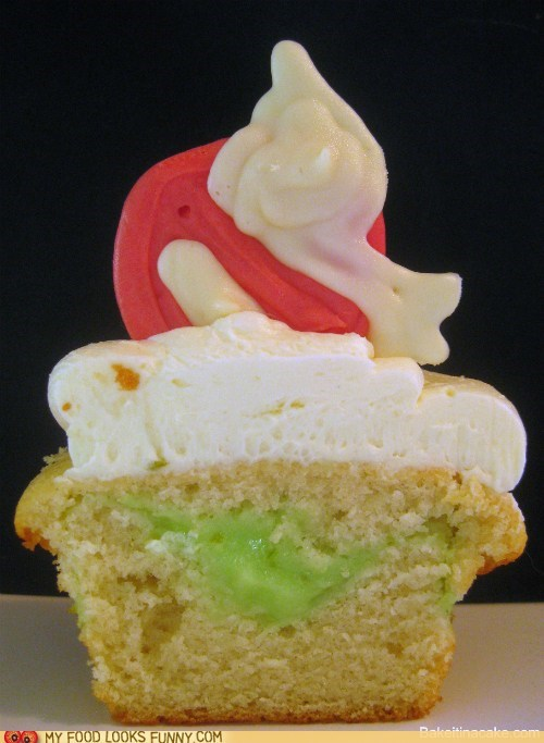 cupcake filling Ghostbusters logo pudding slime white chocolate - 5844291840