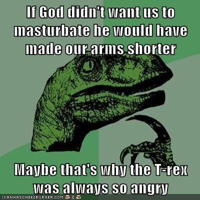 arms god m word philosoraptor t rex - 5844536320