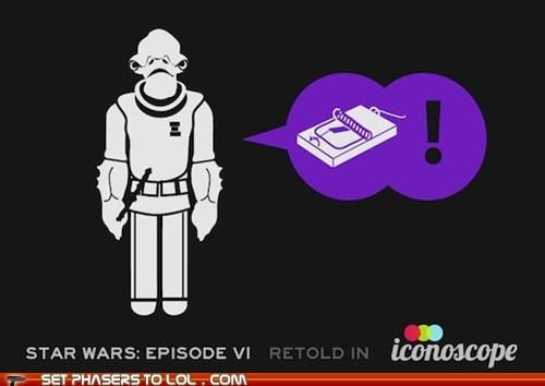 admiral ackbar infographic its a trap return of the jedi star wars - 5844567808