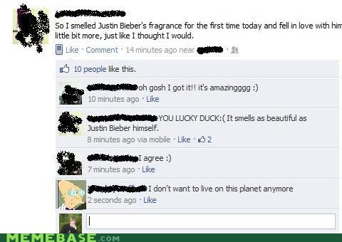 facebook fragrance i dont want to live on this planet anymore justin bieber