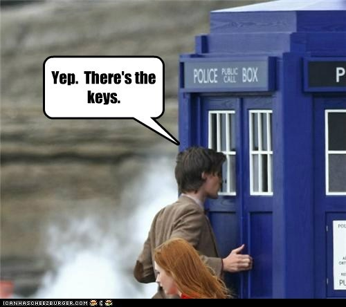 amy pond,doctor who,karen gillan,keys,locked in,Matt Smith,tardis,the doctor