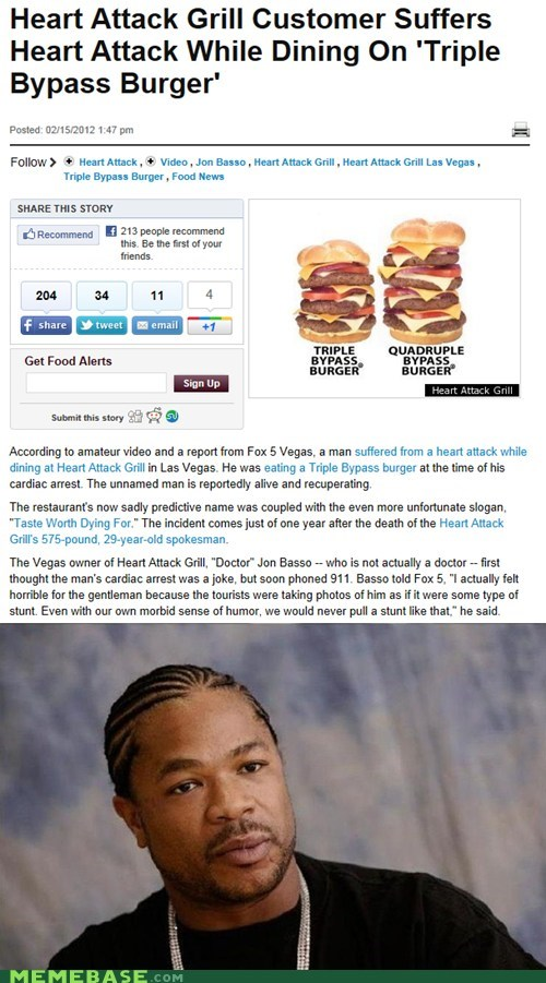 burgers gril heart attack yo dawg - 5844858368