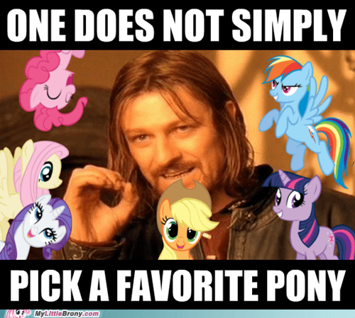 best of week favorite pony mane six meme one does not simply - 5844897792