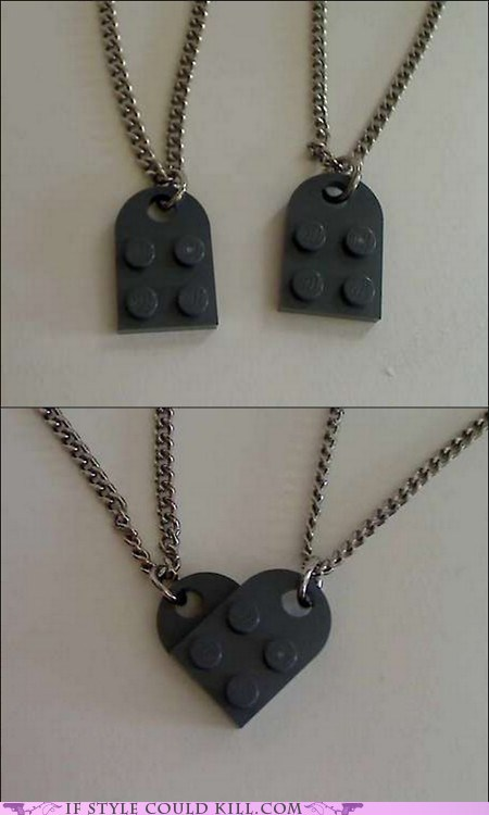 best of the week,cool accessories,couples,hearts,lego,legos,necklaces
