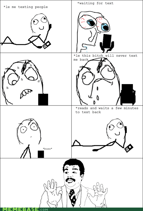 Rage Comics,texting,waiting,watch out guys