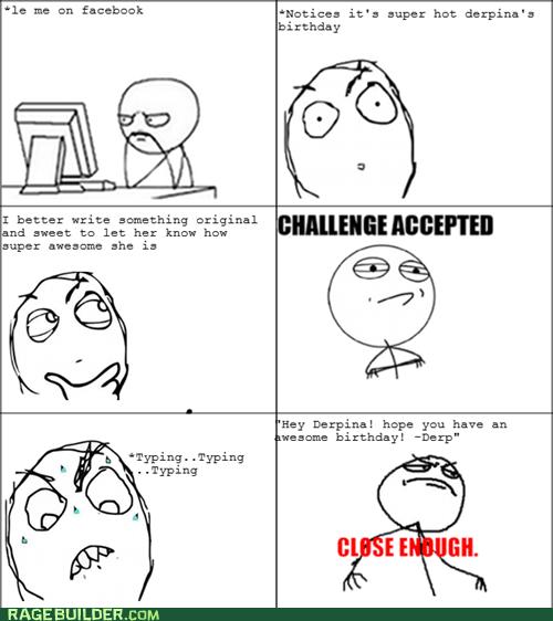 birthday Challenge Accepted facebook Rage Comics - 5845110016