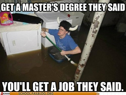 degree,graduate,graduation,job,masters,They Said