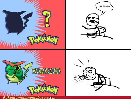 caterpie,cereal guy,Memes,pikachu,whos-that-pokemon
