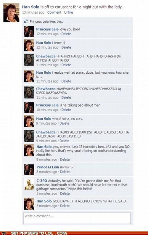 best of the week c3p0 chewbacca facebook Han Solo Princess Leia star wars wookie - 5845315328
