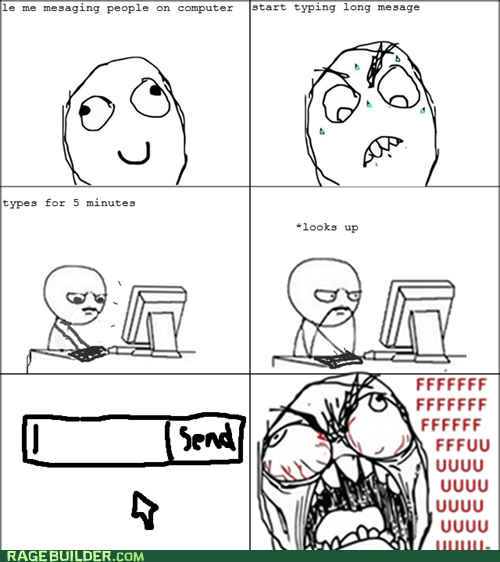 fu guy,messaging,mistype,Rage Comics