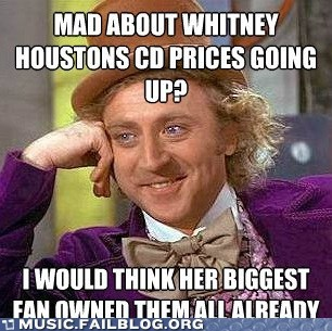 Hall of Fame price whitney houston Willy Wonka
