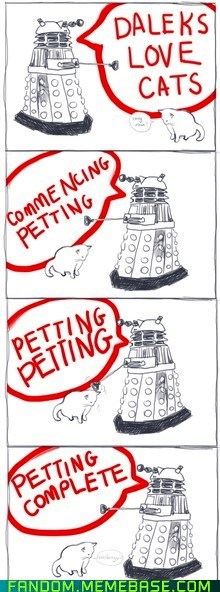 best of week,cat,dalek,doctor who,Fan Art