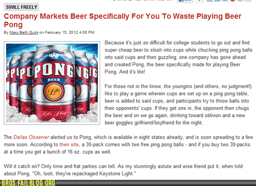 asu,bro beer,pong beer,selling out