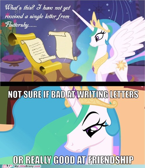 comic comics fluttershy friendship letters princess celestia - 5845897728
