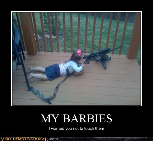 barbies girl gun hilarious sniper - 5846517760