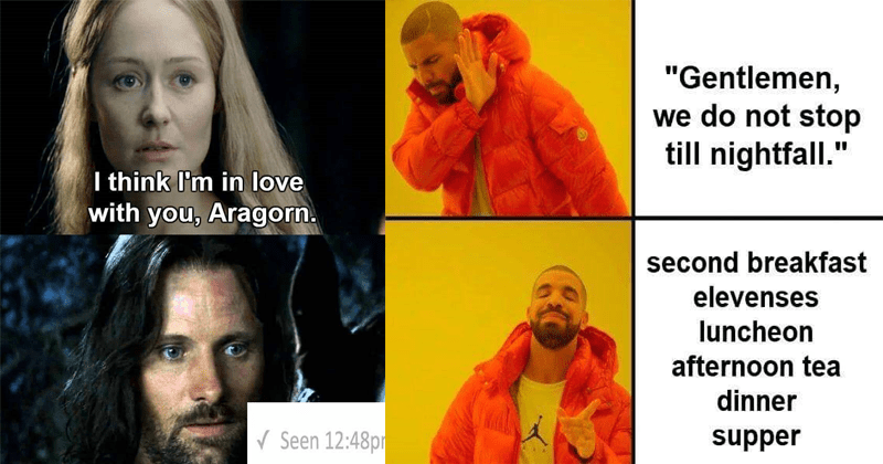 Funny Lord of the rings memes.