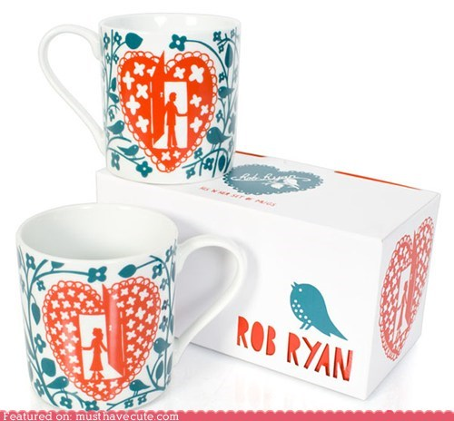 ceramic cups door heart his and hers man mugs woman - 5847133696