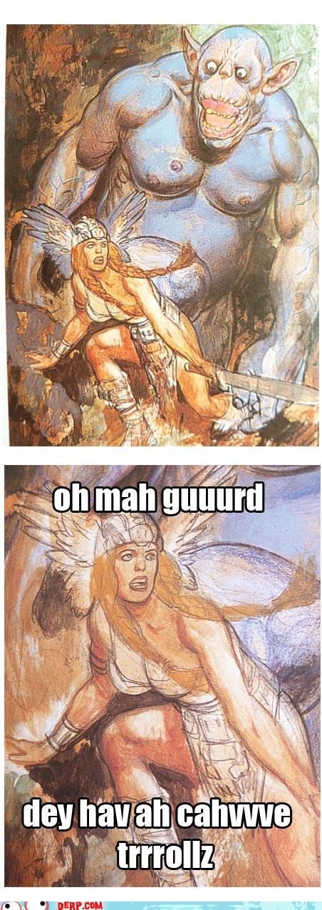 cave trolls,dd,derp,fantasy