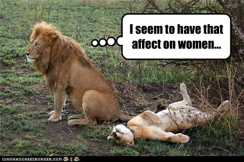 affect on women best of the week Hall of Fame ladies man lion lioness lions women - 5848726272