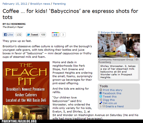babyccinos espresso shots for tots hipsters out of control - 5848739840