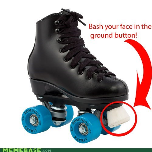 bash button face ground Memes rollerblades - 5848775168