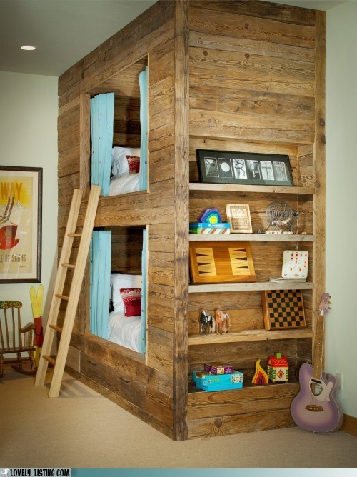 barn box bunk bed ladder wood - 5849249792