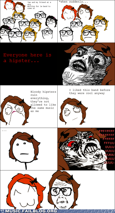 before it was cool comic hipster rage comic - 5849308416