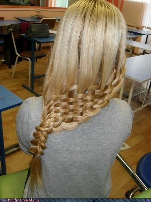 braid hairdo hairstyle waffle win - 5849328896