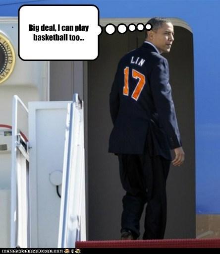 barack obama basketball Jeremy Lin political pictures - 5849420288