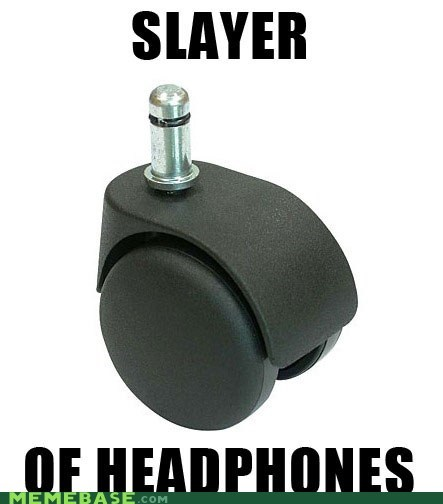 chair headphones slayer Text Stuffs wheel - 5849831424
