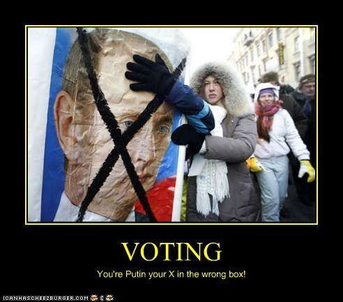 political pictures Vladimir Putin voting