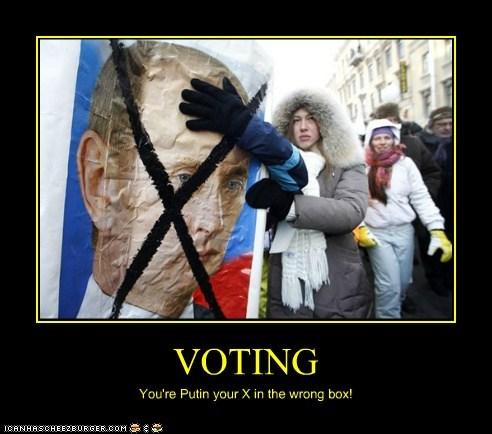 political pictures Vladimir Putin voting - 5849834752