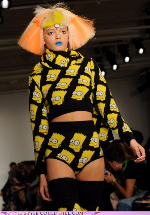 bart simpson cartoons cool accessories jeremy scott the simpsons - 5849965056