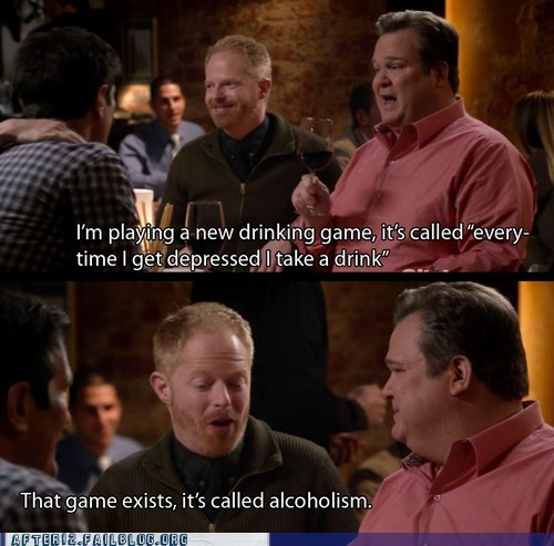 alcoholic,alcoholism,drinking,drunk,Modern Family