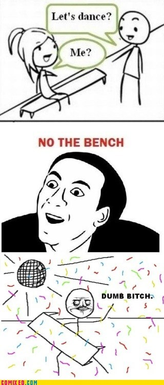 bench dance girls me gusta meme nic cage the internets - 5850153472