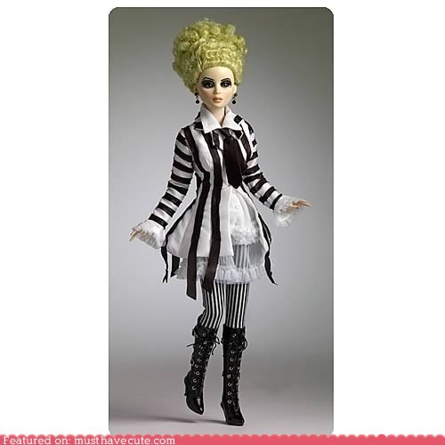 awesome beetlejuice costume doll lady - 5850171392