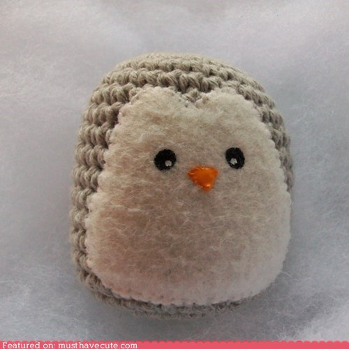Amigurumi Crocheted grey penguin soft