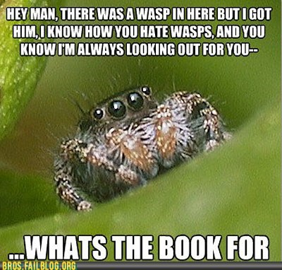 not cool bro spiders whats-the-book-for - 5850270464