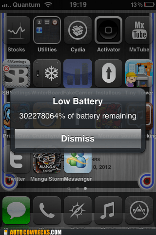 battery remaining low battery percentage - 5850338816