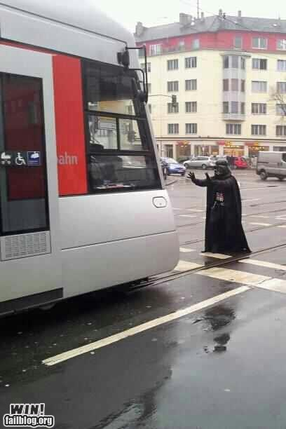 darth vader,nerdgasm,star wars,the force,train