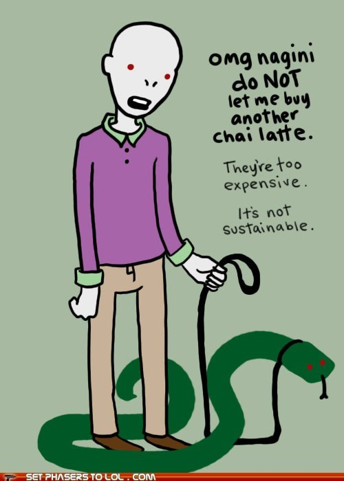 chai,expensive,Harry Potter,hipster,latte,nagini,snake,sustainable,voldemort