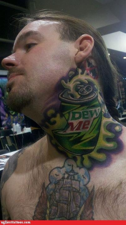 dew me,do the dew,soda tattoos