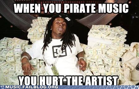 artist lil wayne piracy pirating
